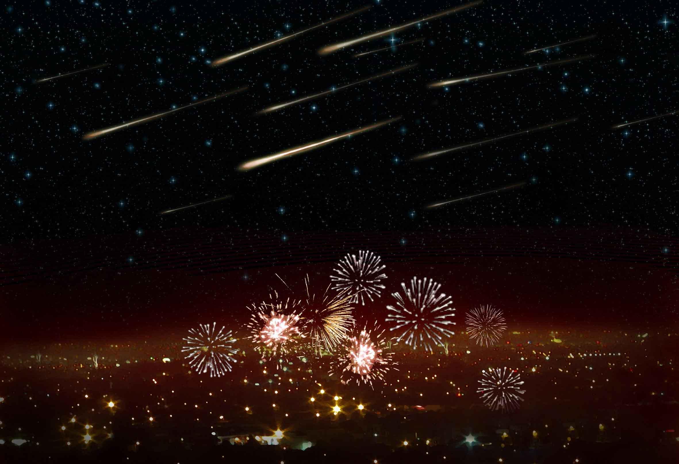 Volantids meteor shower illustration
