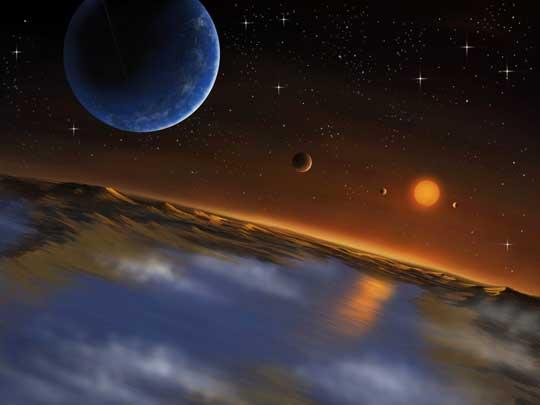 Kepler 62f seen from Kepler-62f