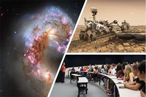 galaxy, Mars rover, classroom