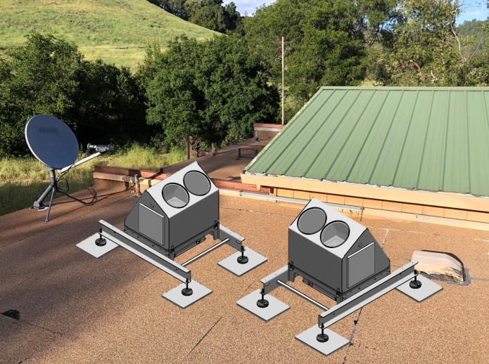 un esempio di come apparirà l'installazione sul tetto di RFO