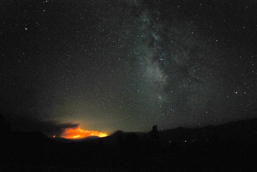 Vue de l'incendie de Dixie depuis le réseau de télescopes Allen.